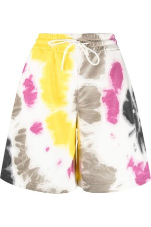 Msgm Tie-dye print track shorts