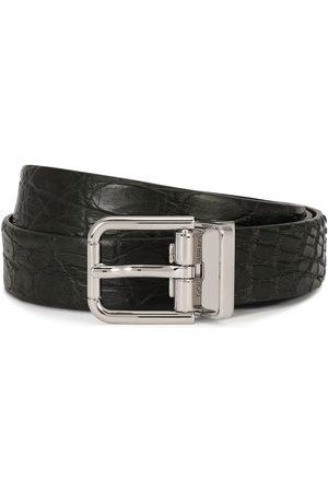 Dolce & Gabbana Heren Riemen - Embossed square-buckle belt