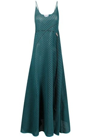 Bottega Veneta Open-knit drawstring maxi-dress
