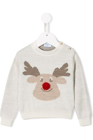 Siola Sweaters - Rudolph embroidered jumper