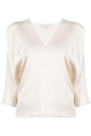 ANTONELLI Dames Crop Top - V-neck crop-sleeve blouse