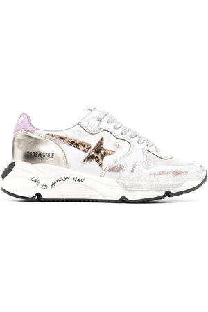 Golden Goose Logo-patch lace-up sneakers