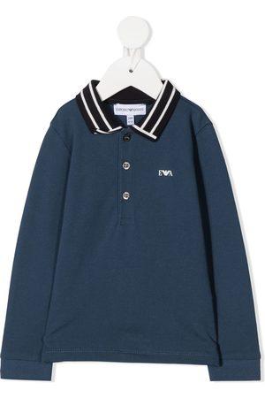 Emporio Armani Poloshirts - Striped collar polo shirt