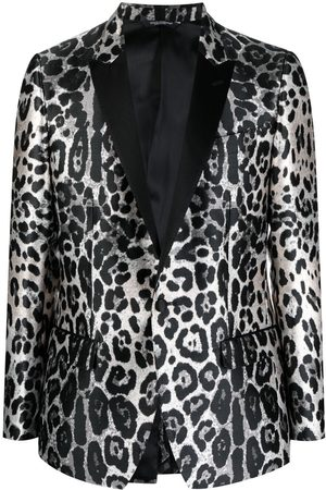 Dolce & Gabbana Leopard-print single-breasted blazer