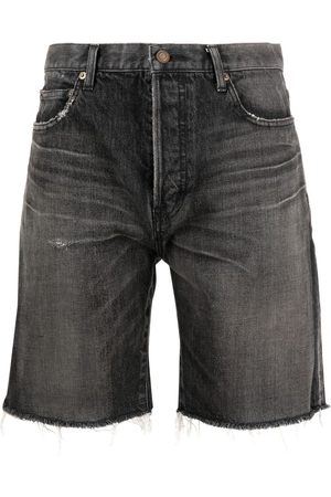 Saint Laurent Heren Shorts - Frayed denim shorts