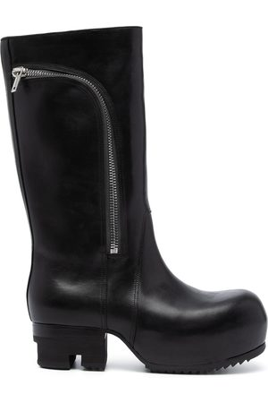 Rick Owens Curved-zip ankle boots