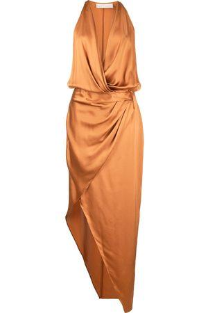 Michelle Mason Asymmetric halterneck silk dress