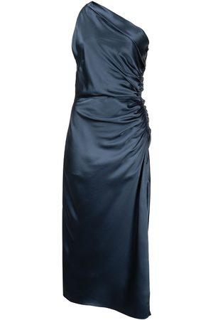 Michelle Mason Dames Asymmetrische jurken - One-shoulder silk dress