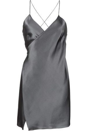 Michelle Mason Dames Feestjurken - Wrap-front silk mini dress
