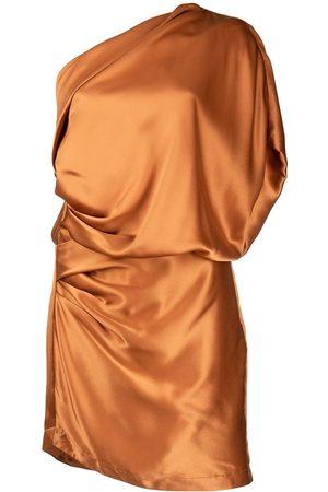 Michelle Mason Dames Asymmetrische jurken - One-shoulder silk mini dress