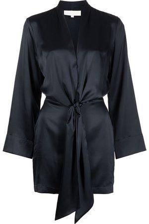 Michelle Mason Kimono-tie mini silk dress