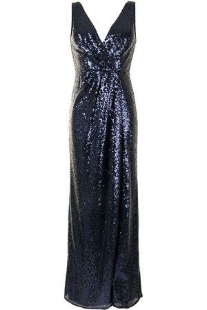 Marchesa Notte Sequin-embellished V-neck bridesmaids dress