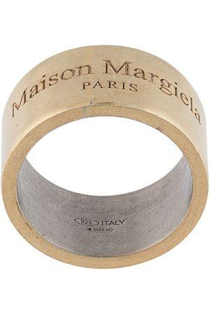 Maison Margiela Heren Ringen - Engraved-logo detail ring