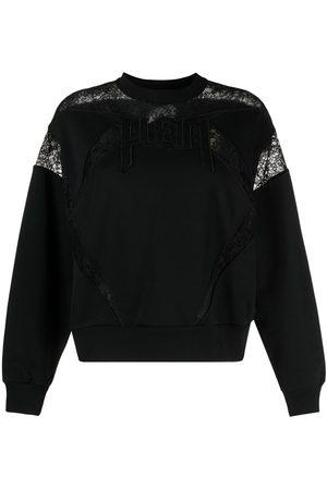 Philipp Plein Dames Sweaters - Lace-panelled logo sweatshirt