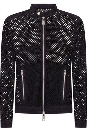 Dolce & Gabbana Heren Leren jassen - Perforated suede jacket