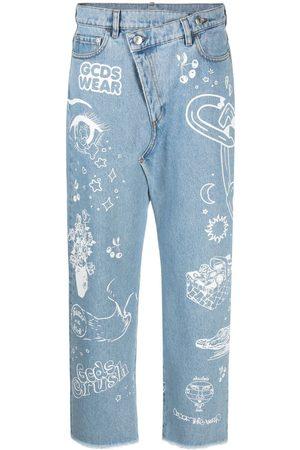 GCDS Distressed boyfriend jeans