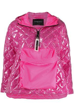GOOSE TECH Quilted zip-up hoodie