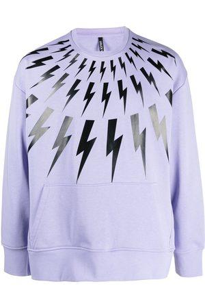 Neil Barrett Heren Sweaters - Thunderbolt-print sweatshirt