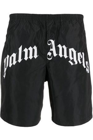 Palm Angels Logo print swimming shorts