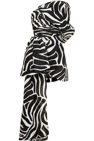 ISABEL SANCHIS Dames Feestjurken - Zebra-print silk mini dress