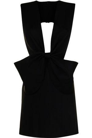 ISABEL SANCHIS Dames Feestjurken - Bow-detail plunge V-neck dress