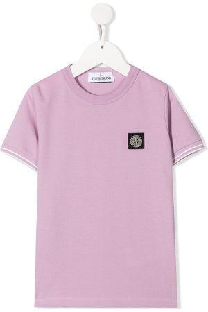 Stone Island Logo patch stretch-cotton T-shirt