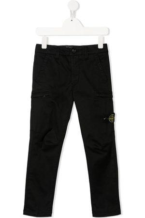 Stone Island Jongens Broeken - Logo-patch trousers