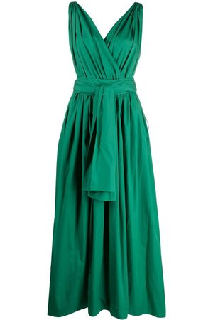 Dolce & Gabbana Dames Feestjurken - Belted pleated midi dress