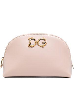 Dolce & Gabbana Dames Toilettassen - DG leather makeup bag