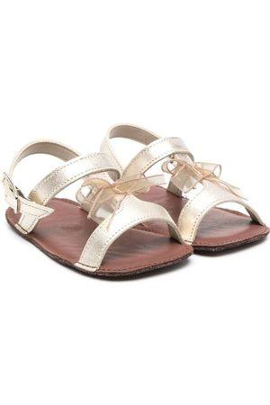 PèPè Bow-detailed leather sandals