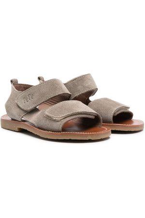 PèPè Jongens Schoenen - Touch-strap suede sandals