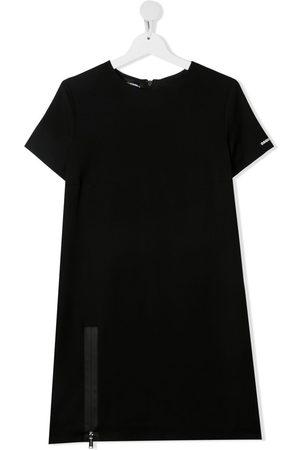 Dsquared2 TEEN zip-detail T-shirt dress