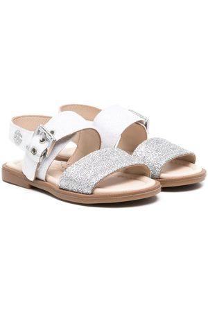 Florens Glitter-detail leather sandals