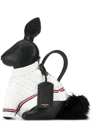 Thom Browne Rabbit knitted-jumper tote bag
