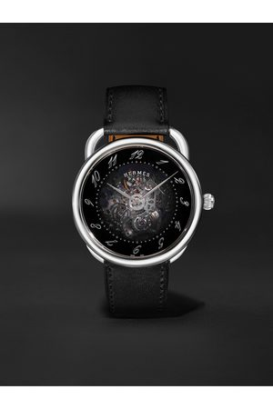 Hermès Arceau Squelette Automatic 40mm Stainless Steel and Leather Watch, Ref. No. 055631WW00