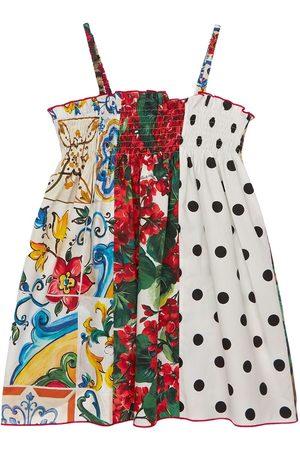 Dolce & Gabbana Patchwork Print Cotton Poplin Dress