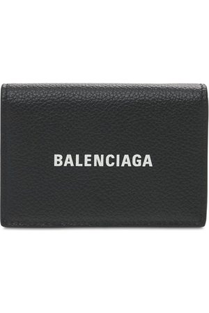 Balenciaga Heren Portemonnees - Logo Print Leather Wallet
