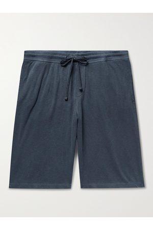 James Perse Heren Strings - Mélange Loopback Cotton-Jersey Drawstring Shorts