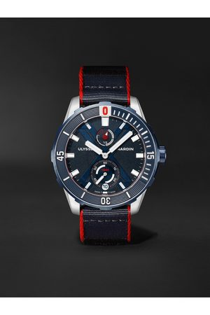 Ulysse Nardin Heren Horloges - Diver X Nemo Point Limited Edition Automatic 44mm Titanium and Webbing Watch, Ref. No. 1183-170LE/93-NEMO