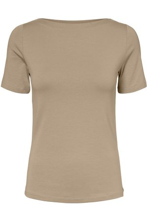 Vero Moda Boothals T-shirt Dames Beige