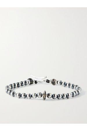 Mikia Heren Armbanden - Sterling and Glass Beaded Bracelet