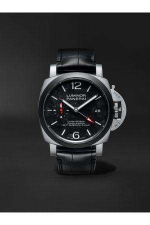 PANERAI Heren Horloges - Luminor Luna Rossa Limited Edition Automatic GMT 42mm Titanium and Alligator Watch, Ref. No. PAM01096