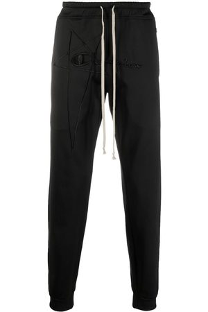 Rick Owens X Champion Embroidered-logo trousers