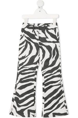 CAROLINE BOSMANS Zabra-print trousers