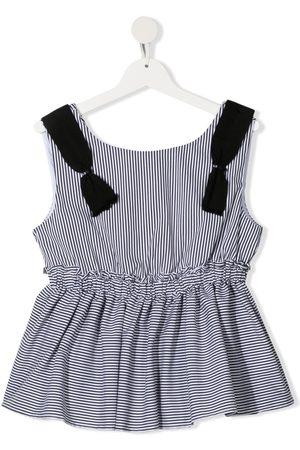 MONNALISA Meisjes Blouses - TEEN stripe print sleeveless blouse