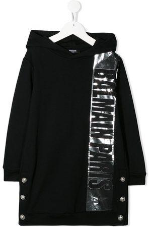 Balmain Kids Logo-print hooded dress