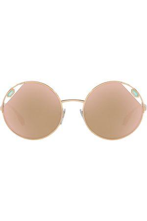 Bvlgari Stone-embellished round sunglasses