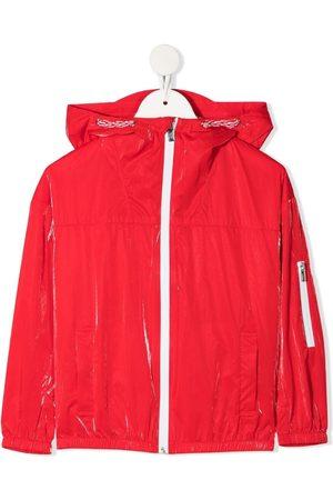 Emporio Armani Kids Metallic-finish logo-print jacket