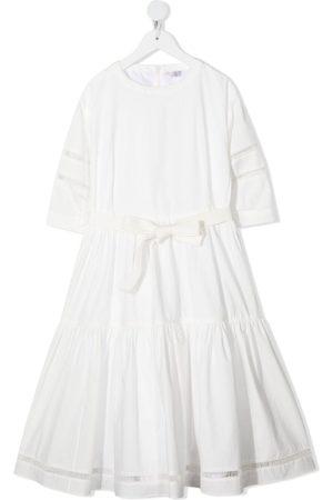 Brunello Cucinelli Gathered-detail cotton dress