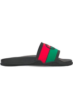 Gucci Heren Outdoor Sandalen - Interlocking G Rubber Slide Sandals